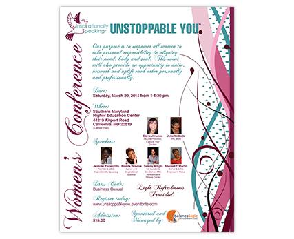 Inspirationally Speaking Flyer