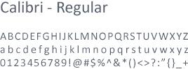 Font Calibri Regular