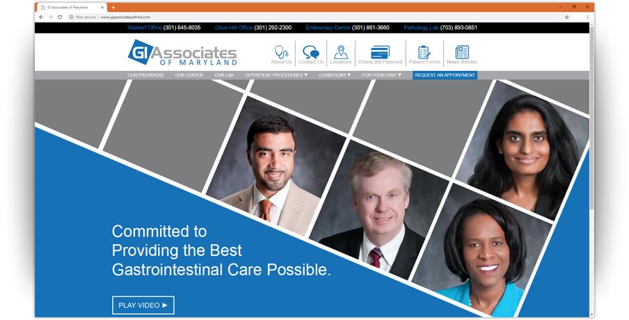 GI Associates of MD Website 1