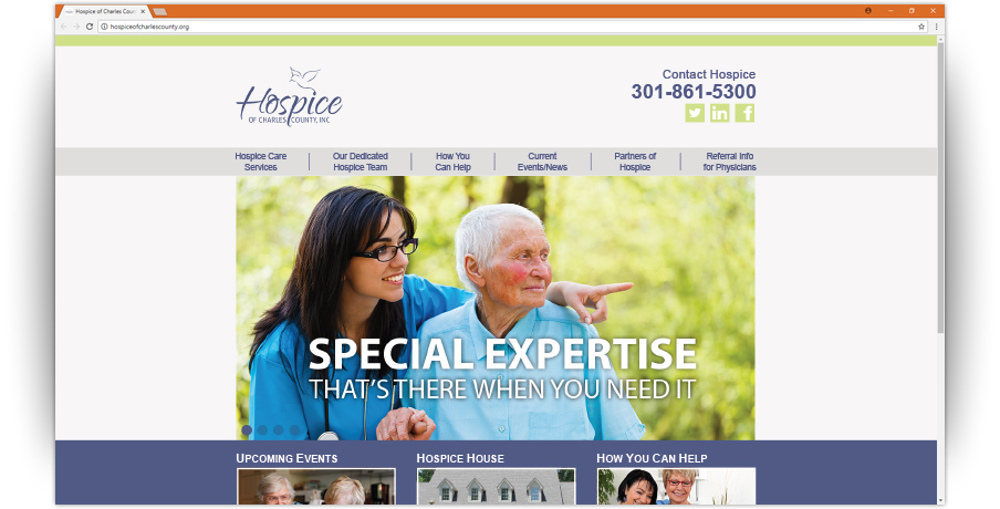 Hospice of Charles County Website