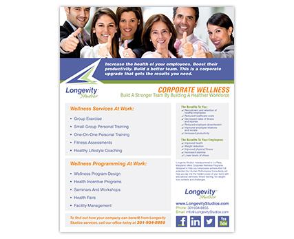 Longevity Studios Flyer