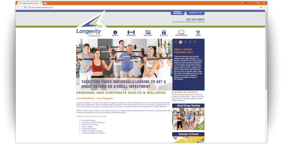 Longevity Studios Website 2