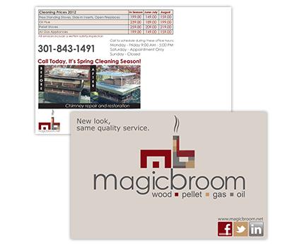 Magic Broom Postcard