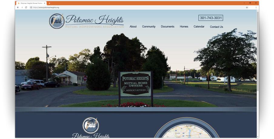 Potomac Heights Mutual HOA Website 1