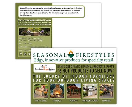 Seasonal Firestyles Postcard